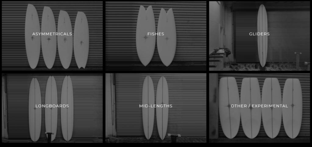 ライアンバーチのサーフボード