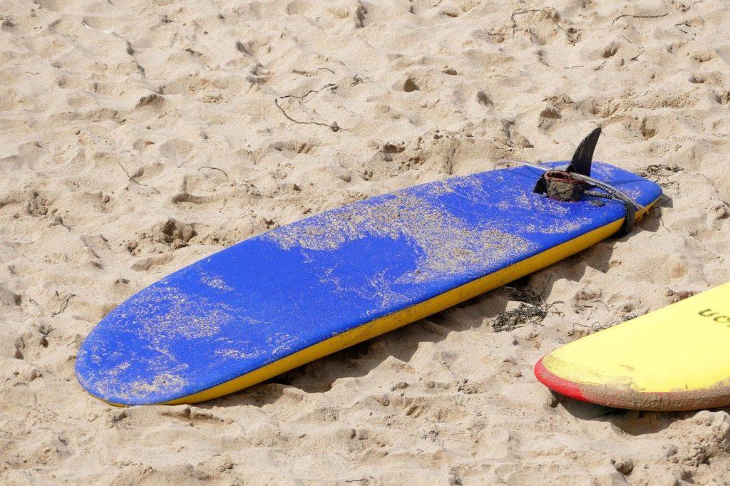 シングルフィンのロングボード