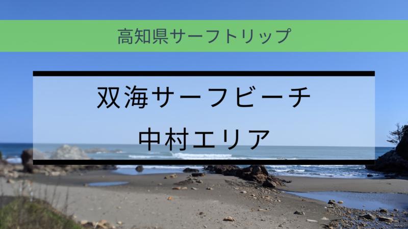 双海サーフポイント(中村エリア)【高知県サーフトリップ】