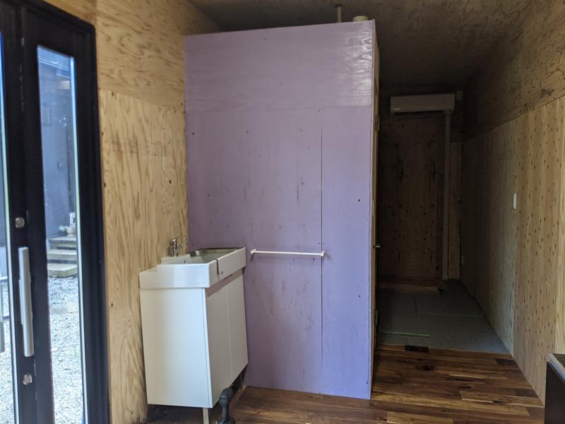 [サーフィンDIY]サーフボードを置く倉庫の内装を塗装 part1 - 洗面台を外す編 -